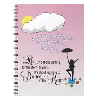 Dance in the Rain Spiral Note Books