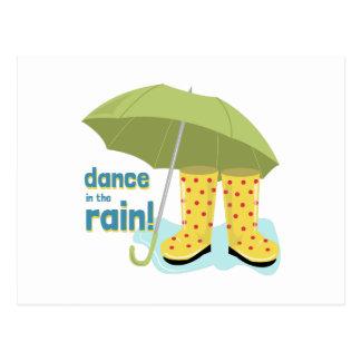 Dance In The Rain! Postcard