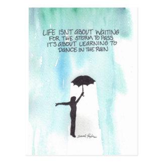 Dance In The Rain Postcard
