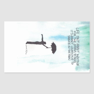 Dance In The Rain Rectangular Sticker