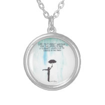 Dance In The Rain Silver Plated Necklace