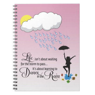 Dance in the Rain Spiral Notebook