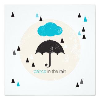 Dance in the rain umbrella card