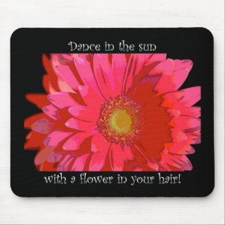 Dance in the Sun Gerbera Daisy Mousepad