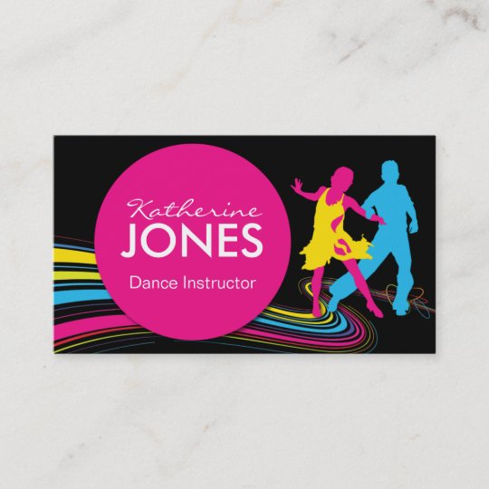 Dance instructor business car business card zazzle dance instructor business car business card reheart Gallery