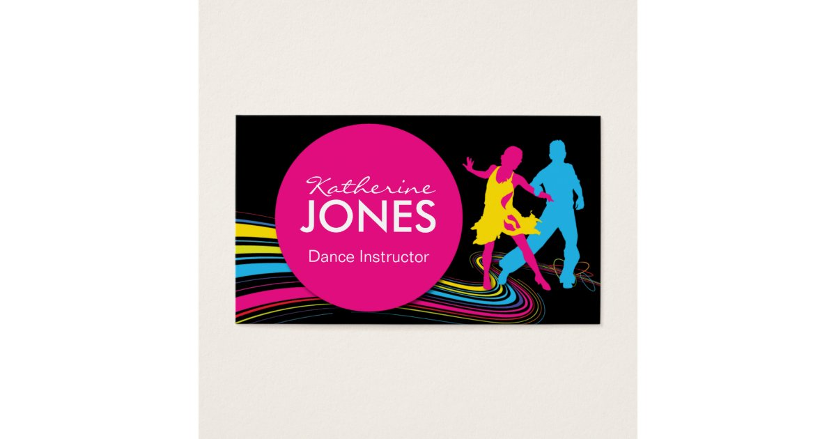 Dance Instructor Business Cards & Templates | Zazzle