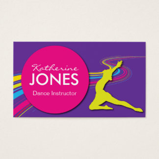 Dance instructor business cards templates zazzle dance instructor business card reheart Gallery