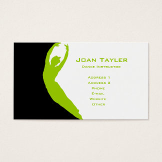 Dance Instructor Business Card