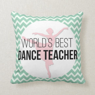 Dance Instructor Chevron Personalized Thank You Throw Pillow