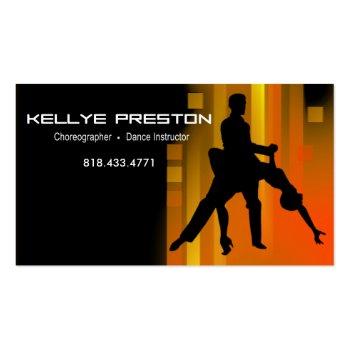 dance instructor choreographer ballroom dancer business card