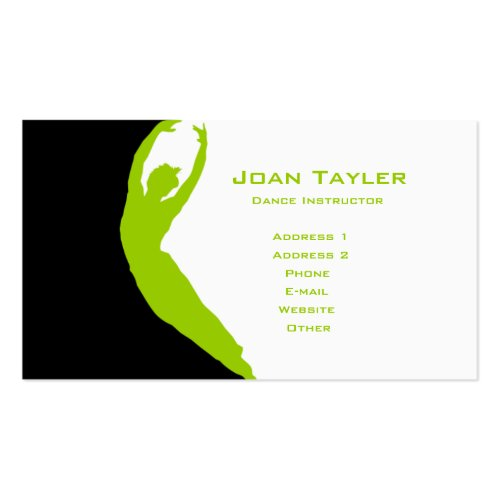 Dance Instructor Double-Sided Standard Business Cards