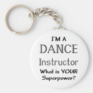 Dance instructor keychain