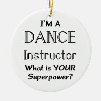 Dance instructor christmas ornaments