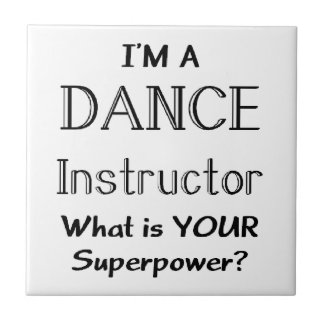 Dance instructor small square tile