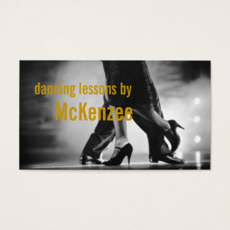 Dance, Instructor, Studio Lessons Business Card