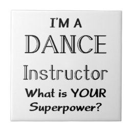 Dance instructor tile