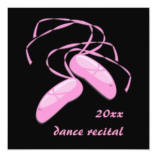 """Dance Invitations 5.25"""" Square Invitation Card"""