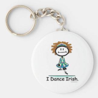 Dance Irish Basic Round Button Keychain
