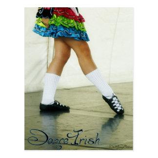 Dance Irish Blue Postcard