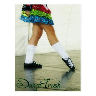 Dance Irish Green Postcard
