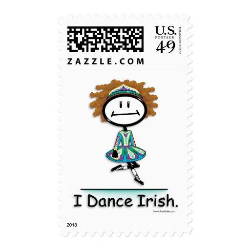 Dance Irish Postage Stamp