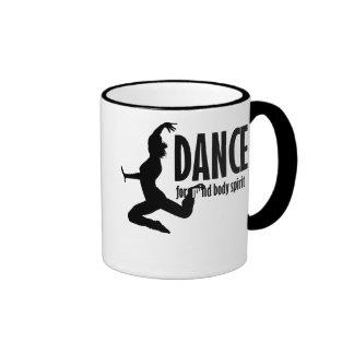 Dance is for MIND BODY and SPIRIT Ringer Mug