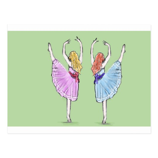 Dance is poetry in motion postcard