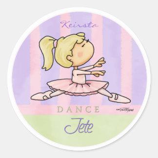 Dance - Jete - Ballet recital Classic Round Sticker