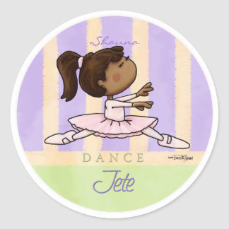 dance-jeteaa10x10_circle_cp classic round sticker