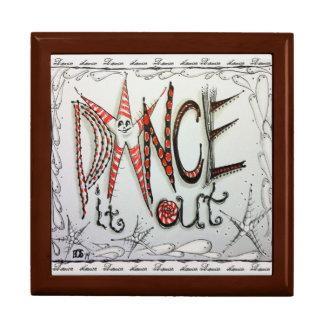 Dance Jewelry Box, Original Art Design Keepsake Box