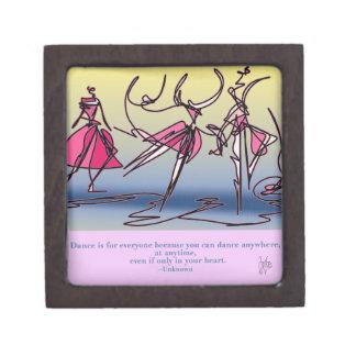 Dance, jump and turn. jewelry box