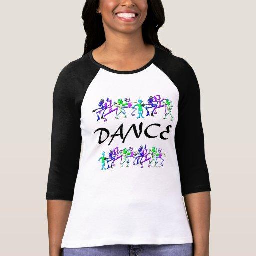 Dance~Ladies cupo el raglán Playeras