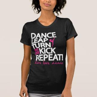 Dance Leap Turn Kick Repeat Dancer V Neck Shirt