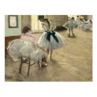 Dance Lesson by Edgar Degas Postcard