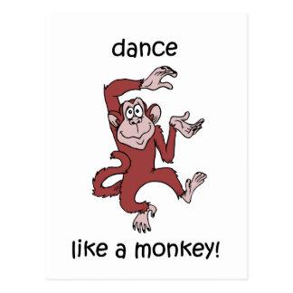 Dance like a monkey! postcard