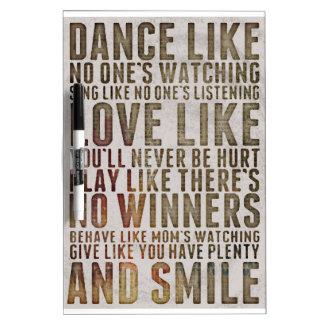 Dance like no one Dry-Erase board