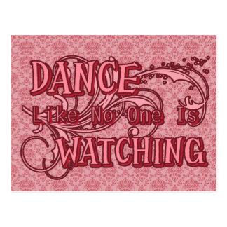 Dance Like No One Is Watching Postcard