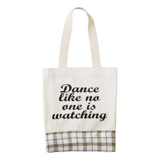 Dance like no one is watching zazzle HEART tote bag