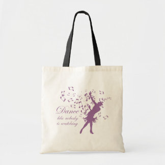 Dance like nobody is watching reusable tote bag