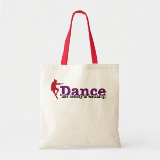 Dance like nobody is watching tote bag