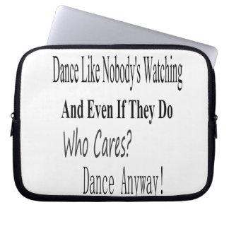 Dance Like Nobody's Watching Laptop Sleeve