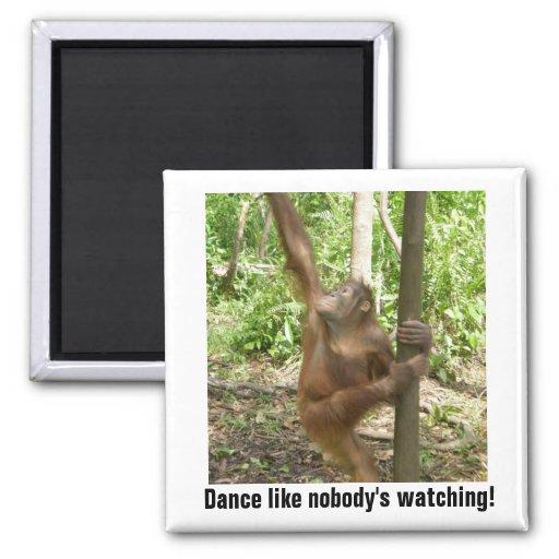 Dance Like Nobody's Watching Motivational Fridge Magnets