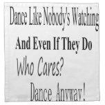 Dance Like Nobody's Watching Napkins
