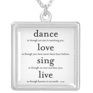 Dance Like nobody's watching Necklace,