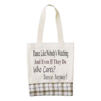 Dance Like Nobody's Watching Zazzle HEART Tote Bag