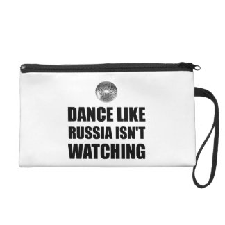 Dance Like Russia Not Watching Wristlet Purse