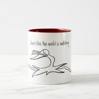 Dance Like the World is Watching Two-Tone Coffee Mug