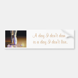 Dance/Live Bumper Sticker