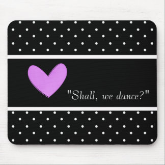 DANCE-LOVE-ROMANCE-TEMPLATE-VINTAGE-STYLISH MOUSE PAD