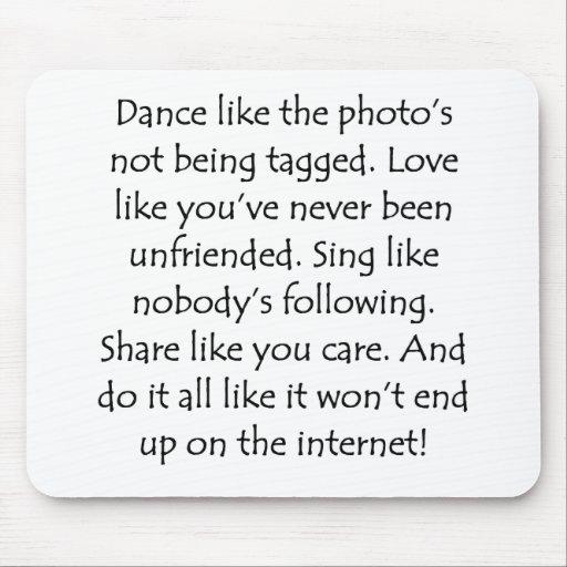 Dance Love Sing Share Mousepad